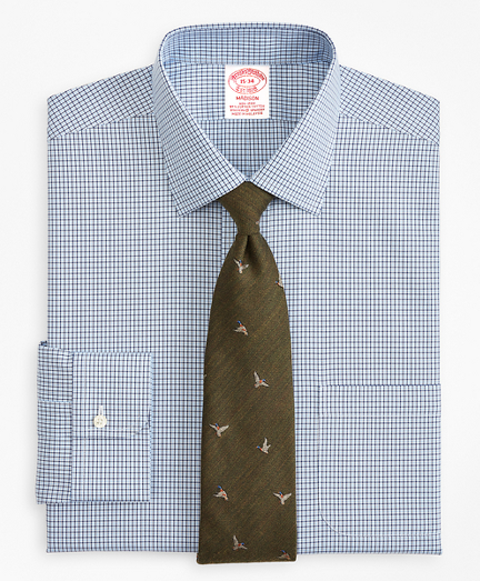 Stretch Madison Classic-Fit Dress Shirt, Non-Iron Check