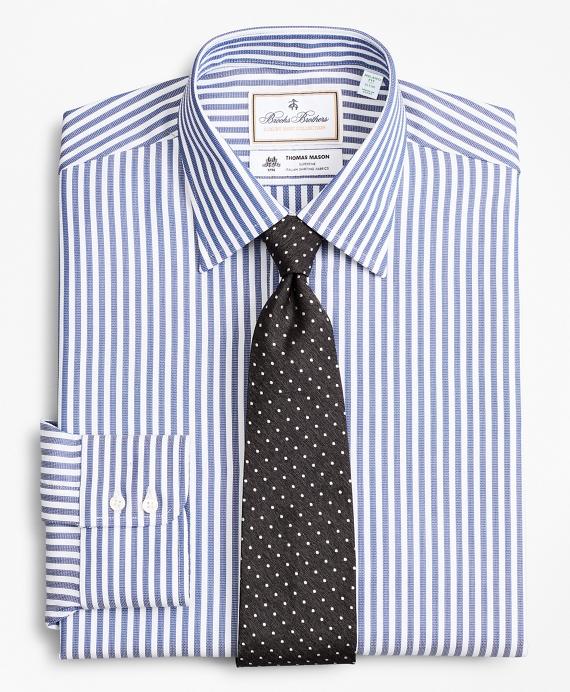 Luxury Collection Milano Slim-Fit Dress Shirt, Franklin Spread Collar Bengal Stripe Blue