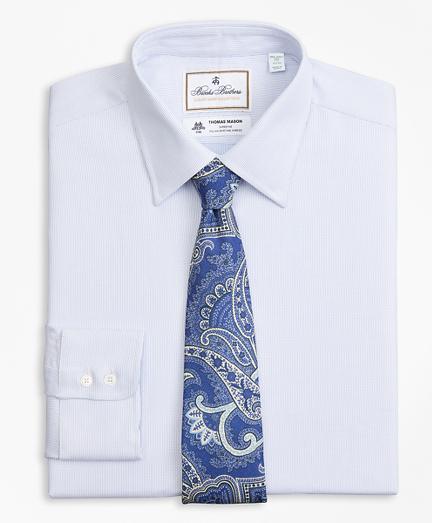 Luxury Collection Milano Slim-Fit Dress Shirt, Franklin Spread Collar Broken Stripe