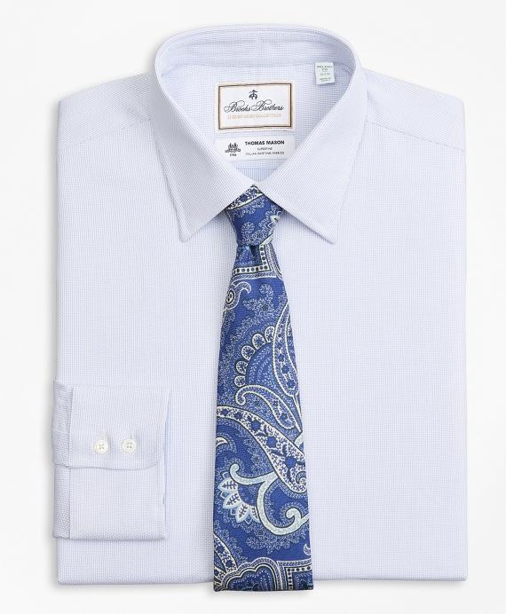 Luxury Collection Milano Slim-Fit Dress Shirt, Franklin Spread Collar Broken Stripe Blue