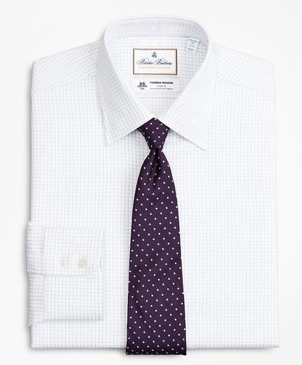 Luxury Collection Milano Slim-Fit Dress Shirt, Franklin Spread Collar Fine Windowpane