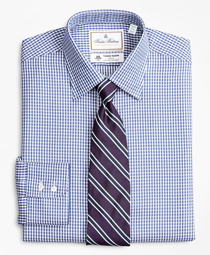 Luxury Collection Milano Slim-Fit Dress Shirt, Franklin Spread Collar Fine Gingham