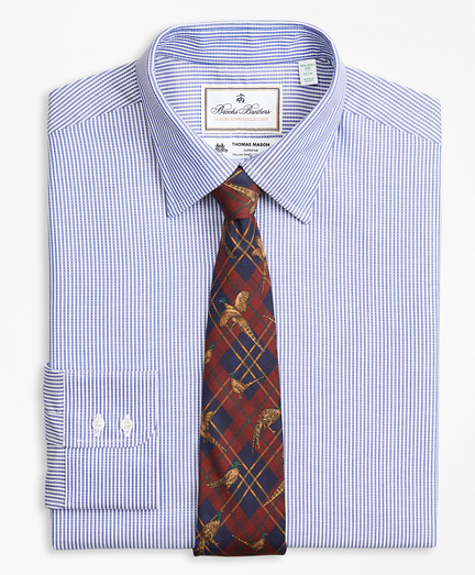 Luxury Collection Milano Slim-Fit Dress Shirt, Franklin Spread Collar Track Stripe