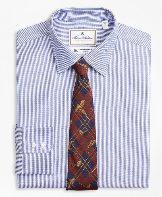 Luxury Collection Milano Slim-Fit Dress Shirt, Franklin Spread Collar Track Stripe Blue