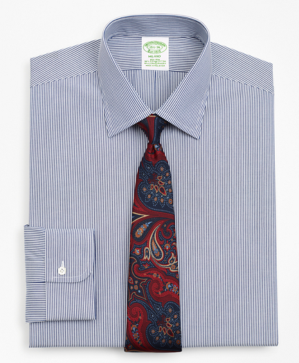 Stretch Milano Slim-Fit Dress Shirt, Non-Iron Stripe