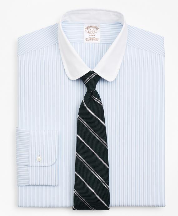Stretch Soho Extra-Slim Fit Dress Shirt, Stripe Blue