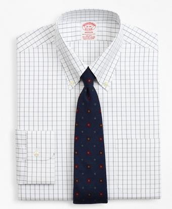 Stretch Madison Classic-Fit Dress Shirt, Non-Iron Windowpane