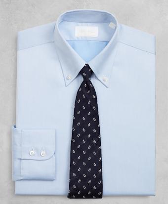 Golden Fleece® Regent Fitted Dress Shirt, Button-Down Collar Blue Dobby