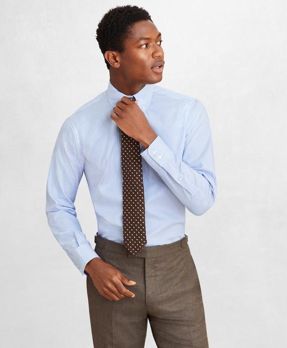 Golden Fleece® Regent Regular-Fit Dress Shirt, Button-Down Collar Stripe Dobby Blue