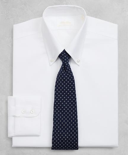 Golden Fleece® Regent Fitted Dress Shirt, Button-Down Collar White Dobby