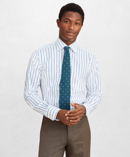 Golden Fleece® Regent Fitted Dress Shirt, English Collar Bold Stripe