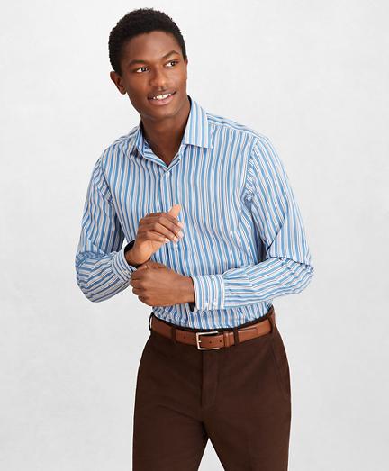 Golden Fleece® Regent Fitted Dress Shirt, English Collar Multi-Stripe