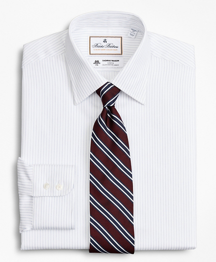Luxury Collection Regent Fitted Dress Shirt, Franklin Spread Collar Fine Stripe