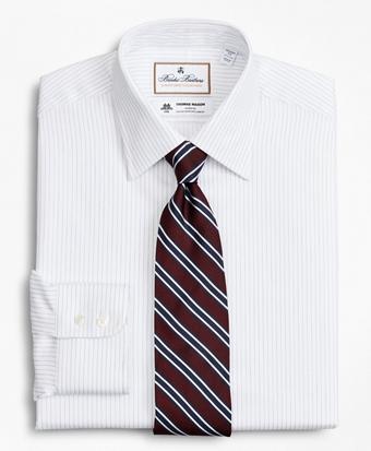 Luxury Collection Regent Fitted Dress Shirt, Franklin Spread Collar Fine Stripe