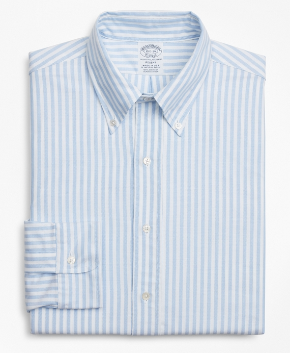 Original Polo® Button-Down Oxford Regent Regular-Fit Dress Shirt, Stripe Blue
