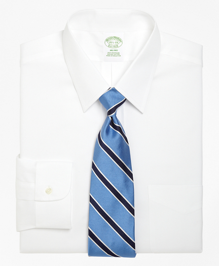 Brooksbrothers Milano Slim-Fit Dress Shirt, Forward Point Collar