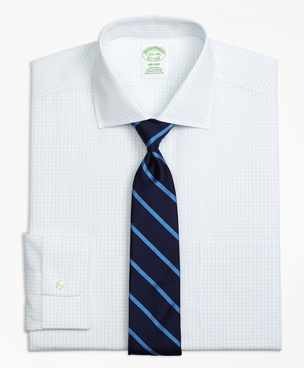 Milano Slim-Fit Dress Shirt, Non-Iron Graph Check