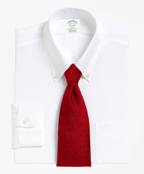 Milano Slim-Fit Dress Shirt, Button-Down Collar White