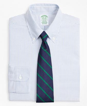 Original Polo® Button-Down Oxford Milano Slim-Fit Dress Shirt, Stripe