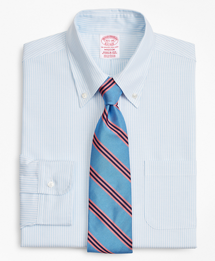 Original Polo® Button-Down Oxford Madison Relaxed-Fit Dress Shirt, Stripe