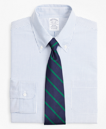 Original Polo® Button-Down Oxford Regent Fitted Dress Shirt, Stripe
