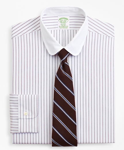 Stretch Milano Slim-Fit Dress Shirt, Non-Iron Dotted-Stripe