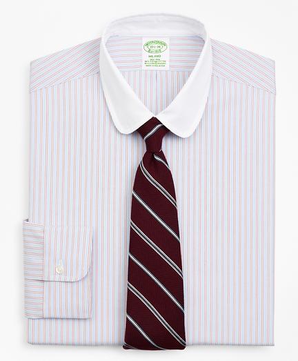 Stretch Milano Slim-Fit Dress Shirt, Non-Iron Double-Stripe