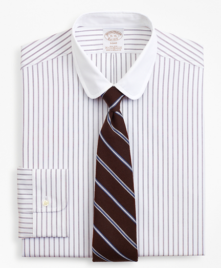 Stretch Soho Extra-Slim Fit Dress Shirt, Non-Iron Dotted-Stripe