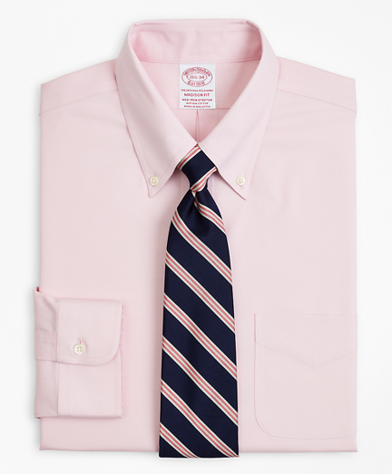 Stretch Madison Relaxed-Fit Dress Shirt, Non-Iron Pinpoint Button-Down Collar