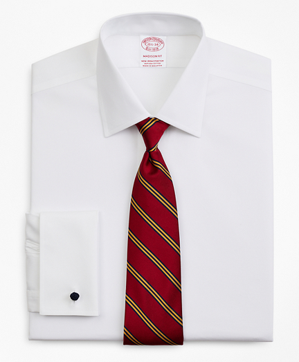 Stretch Madison Relaxed-Fit Dress Shirt, Non-Iron Pinpoint Ainsley Collar French Cuff
