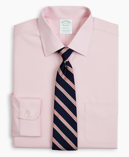 Stretch Milano Slim-Fit Dress Shirt, Non-Iron Pinpoint Ainsley Collar