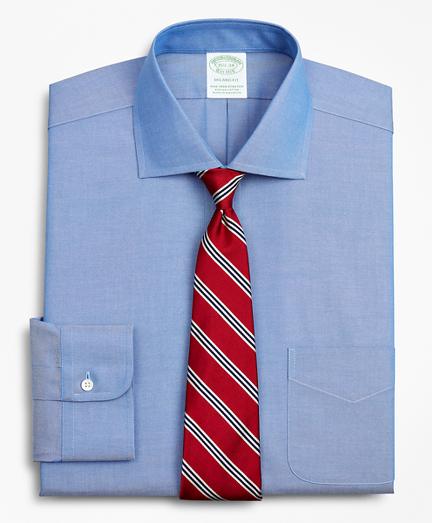 Stretch Milano Slim-Fit Dress Shirt, Non-Iron Pinpoint English Collar