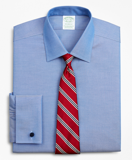Stretch Milano Slim Fit Dress Shirt, Non-Iron Pinpoint Ainsley Collar French Cuff