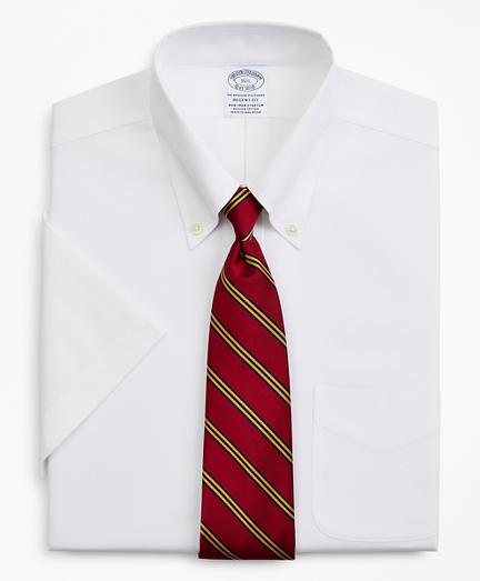 Stretch Regent Regular-Fit  Dress Shirt, Non-Iron Pinpoint Short-Sleeve