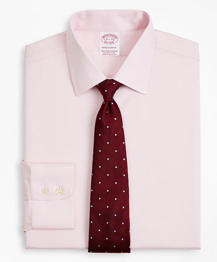 Stretch Madison Relaxed-Fit Dress Shirt, Non-Iron Twill Ainsley Collar