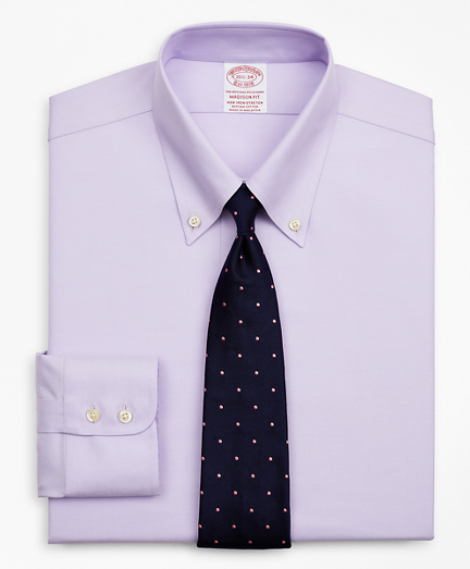 Brooksbrothers Stretch Madison Classic-Fit Dress Shirt, Non-Iron Twill Button-Down Collar