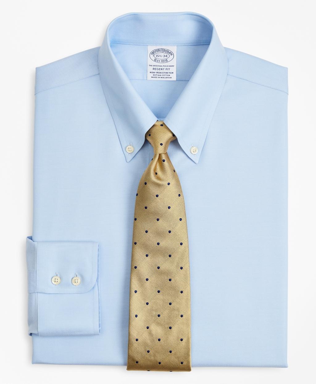 Brooksbrothers Stretch Regent Regular-Fit Dress Shirt, Non-Iron Twill Button-Down Collar
