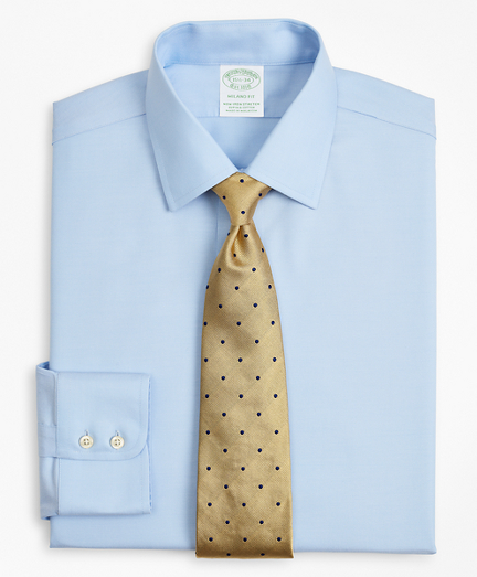 Stretch Milano Slim-Fit Dress Shirt, Non-Iron Twill Ainsley Collar