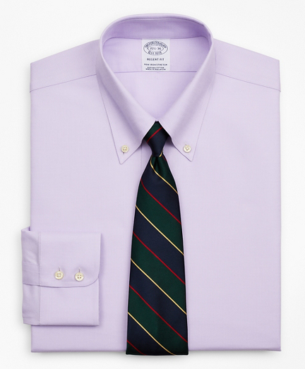 Stretch Regent Fitted Dress Shirt, Non-Iron Royal Oxford Button-Down Collar