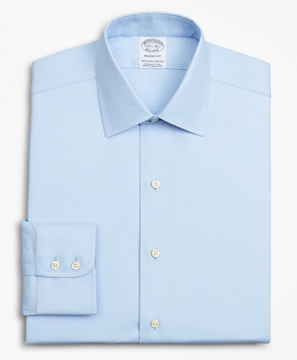 Stretch Regent Fitted Dress Shirt, Non-Iron Royal Oxford Ainsley Collar