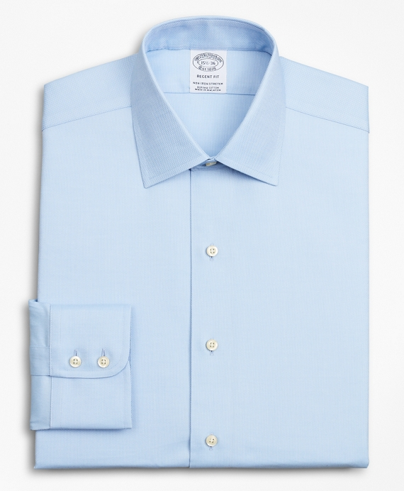 Stretch Regent Fitted Dress Shirt, Non-Iron Royal Oxford Ainsley Collar Light Blue