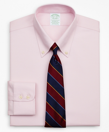 Stretch Milano Slim-Fit Dress Shirt, Non-Iron Royal Oxford Button-Down Collar