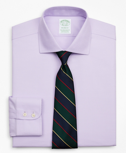 Stretch Milano Slim-Fit Dress Shirt, Non-Iron Royal Oxford English Collar