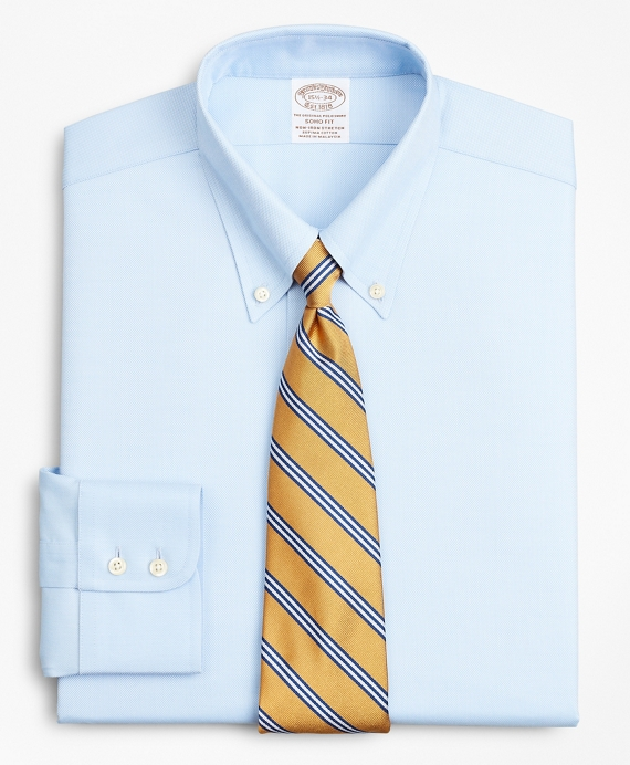 Stretch Soho Extra-Slim-Fit Dress Shirt, Non-Iron Royal Oxford Button-Down Collar Light Blue