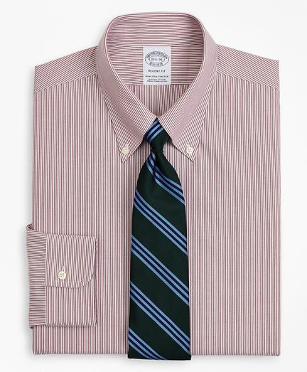 Stretch Regent Regular-Fit  Dress Shirt, Non-Iron Poplin Button-Down Collar Fine Stripe