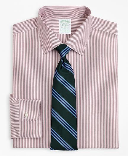 Stretch Milano Slim-Fit Dress Shirt, Non-Iron Poplin Ainsley Collar Fine Stripe