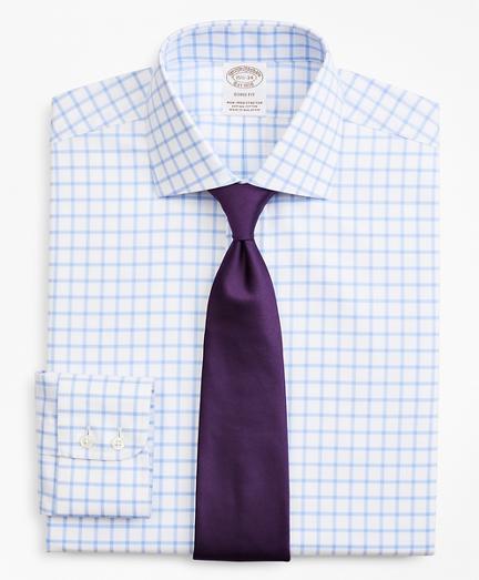 Stretch Soho Extra-Slim-Fit Dress Shirt, Non-Iron Twill English Collar Grid Check
