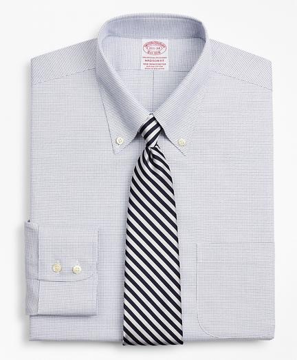 Stretch Madison Classic-Fit Dress Shirt, Non-Iron Twill Button-Down Collar Micro-Check