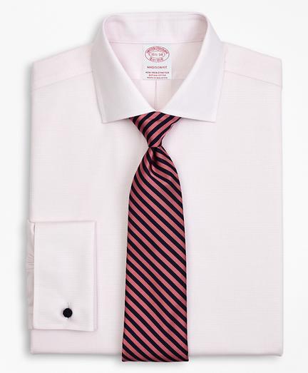 Stretch Madison Classic-Fit Dress Shirt, Non-Iron Twill English Collar French Cuff Micro-Check