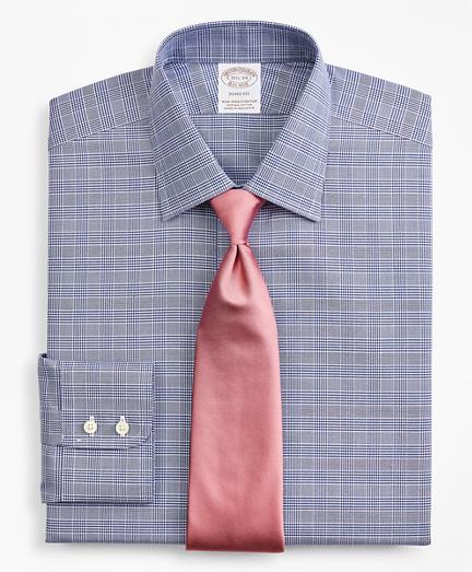 Stretch Soho Extra-Slim-Fit Dress Shirt, Non-Iron Royal Oxford Ainsley Collar Glen Plaid